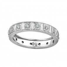 My absolute favourite wedding band!! LOVE LOVE LOVE! Vince take note!! ;-)    Adria 18ct Diamond Set Wedding Band Adria is a traditional 18ct white gold diamond set wedding ring. Adria's design has echoes of classical, vintage and linear clean shapes offset by the inclusion of round cut diamonds. Adria is finished off with a simple yet stylish millgrain edge and coated in luxurious rhodium plating.