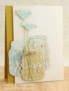 limedoodle, Stampin' Up, Hero Arts, card, mason jars, jar (Debby Hughes)