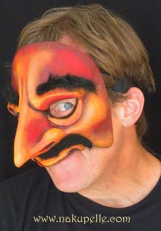 Commedia mask made by nakupelle. A more contemporary commedia mask based on Il Magnifico, the younger version of the commedia character, Pantaloné. Artist: Joe Dieffenbacher.