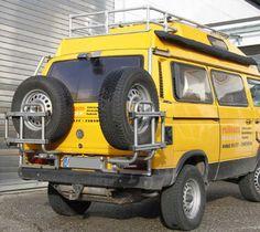 Cool Tire rack. http://www.relleumdesign.de/html/reserveradtrager_t3_1.html