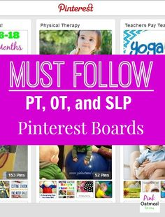 Ahugeresource formy practice as a physical therapist has turned out to be Pinterest. Yes, social media at it's best! Honestly, there's some really great ideas on how to incorporate fun into your therapy sessions, plus easy access to research and technology ideas. I've compiled a list of my favorite boards to follow. Not only are …