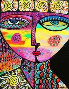 Sun Goddess  SILBERZWEIG ORIGINAL Art by SandraSilberzweigArt, $16.00