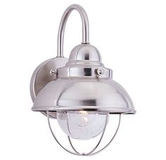 View the Sea Gull Lighting 8870 Sebring 1 Light Outdoor Lantern Wall Sconce at Build.com.