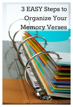Here's a great way to keep track of the Bible verses you're trying to memorize!