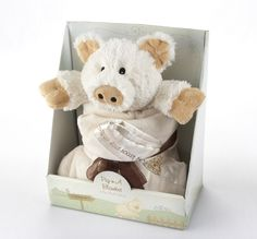 Amazon.com : Baby Aspen Pig-n-A Blanket 2-Piece Gift Set : Baby Toy Gift Sets : Baby