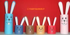 Lavoretti di Pasqua facili: come creare dei coniglietti con rotoli di carta igienica