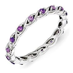 Sterling Silver Amethyst Ring by Stackable Expressions, Best Quality Free Gift Box Satisfaction Guaranteed  http://electmejewellery.com/jewelry/rings/stacking/sterling-silver-amethyst-ring-by-stackable-expressions-best-quality-free-gift-box-satisfaction-guaranteed-com/