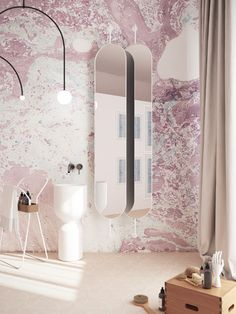 Мраморирование Bathroom wallpapers / The O / Ebru Marble / new collection 2018 #bathroomwallpapers #TheO #walldecoration #bathroomdecor #Обои #Обои для ванной