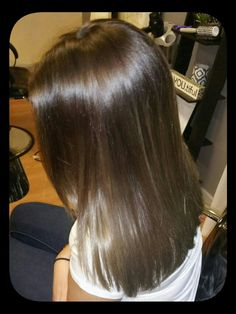 Cool ash dark to light brown hair color melt
