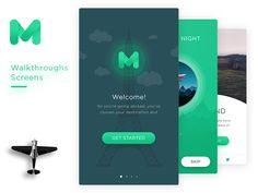 Mugen App Ui Kit - Walkthroughs by Framgia Design #Design Popular #Dribbble #shots