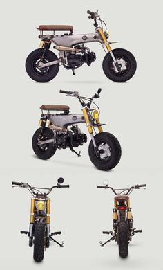 Motorcycle Design, Motorcycle Bike, Bike Design, Honda Cub, Custom Mini Bike, Custom Bikes, Motos Honda, Honda Motorcycles, Vespa Motor Scooters