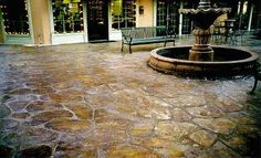 Concrete stamped and stained.... For back patio??  How?