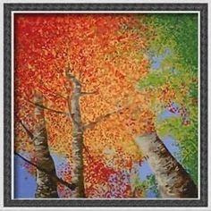paint nite fall painting, birchs - - Yahoo Image Search Results