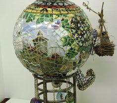 Mosaic Bowling Ball...Avery Bowleen   by callasmosaics, via Flickr