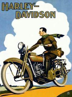 ideas for vintage motorcycle art illustration harley davidson Vintage Harley Davidson, Harley Davidson Posters, Motos Harley Davidson, Bike Poster, Motorcycle Posters, Motorcycle Art, Poster Retro, Poster Vintage, Art Moto