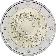 Commemorative  2 EURO Coin 2015 Lithuania 30 years by RamonaStore