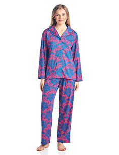 00c423d2bb6 BHPJ By Bedhead Pajamas Womens Brushed Back Soft Knit Pajama Set Fucshia  Teal Damask 3X     Click for Special Deals  SleepShirts