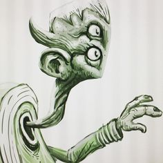 #alien #cintiq22hd #photoshop #digitalartist #digitalart #greenalien #sketch