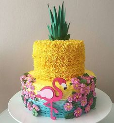 More decorating ideas on albums: Flamingo Party 1 Flamingo Party 2 Luau Birthday Cakes, Luau Cakes, Hawaiian Birthday, Birthday Cookies, Party Cakes, Birthday Parties, Hawaiian Party Cake, Beach Cakes, Flamingo Party