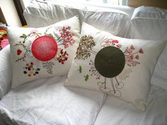 Crochet with embrodery - Nice pillow