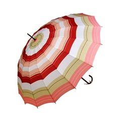 Stylish Ladies Fashion Umbrella - Beach Stripe Pink and Cora ...