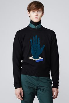 OPENING CEREMONY cube hand crewneck sweater $345