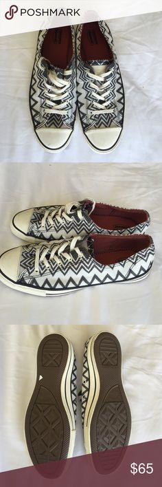 "Converse Missoni classics 6 Missoni X Converse low-cut ""dainty"" classics, size 6. Adorable black and white chevron with just a hint of sparkle. New without tags from Nordstrom. Converse Shoes Sneakers"
