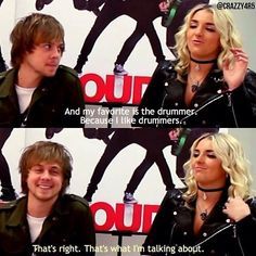 In the first picture, look at how Ratliff looks at Rydel