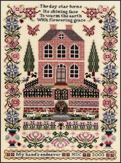 Just Nan - JN116 Silkwood Manor • Heirloom Counted Thread Cross Stitch Designs from Just Nan