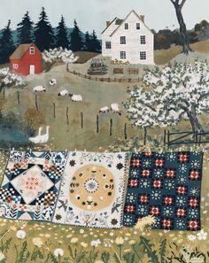 Vermont, So Happy, Art Fantaisiste, Gouache Painting, Whimsical Art, Cute Art, Art Inspo, Folk Art, Artwork