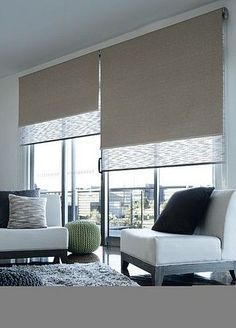 Dual Roller Blinds - Remodelista   INTERIOR DESIGN. REMODELING. HOME STAGING www.shelleysassdesigns.com  858-255-9050 shelleysassdesigns@gmail.com