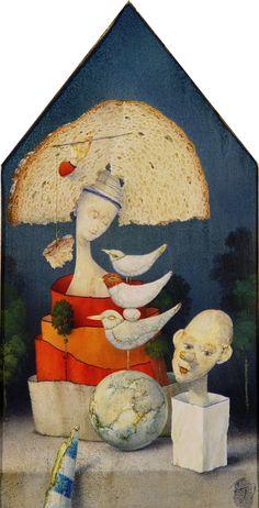 Zdenek Janda – Bread from Madonna Portfolio Images, Mural Painting, Visionary Art, Love Art, Madonna, Murals, Surrealism, Imagination, Sketch