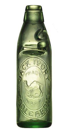 Codd bottle from Australia JACK IVORY  COOLGARDIE  On the base : BGW  Size : 21,5 cm