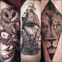 """366 Likes, 9 Comments - Igor Ten (@igor_tenn) on Instagram: """"#repost #tattoo #tattooed #tattoorj #tatuagem #tattoo2me #inspirationtattoo #tatuagemmasculina #owl…"""""""