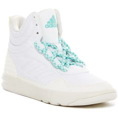 adidas Irana Hi-Top Sneaker ($45) ❤ liked on Polyvore featuring shoes, sneakers, lace up sneakers, high top trainers, adidas, lacing sneakers and multicolor sneakers