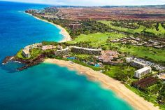 view of the Maui Sheraton my husband and i stayed at on our honeymoon. i cannot wait to go back!