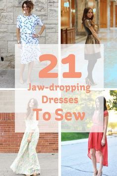 21 Jaw-dropping Dresses to Sew #sewing #dresses #dressmaking