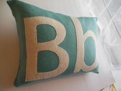 childrens personalized gift, girls boys cushion/pillow, kids soft furnishings.  via Etsy.