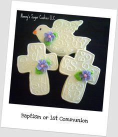 Galletas para bautizo, primera comunión o boda - Nanny's Sugar Cookies LLC: First Communion or Baptism Cookie Favors