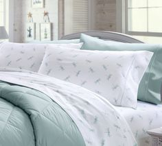 Sea Glass Dragonfly sateen bedsheets