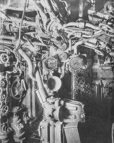 【貴重】第1次世界大戦時に使用されたドイツのUボート内部写真