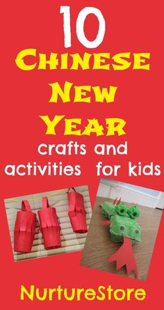 Celebrate the Chinese New Year with your children with these 10 Chinese New Year crafts and activities. | NurtureStore :: inspiration for kids