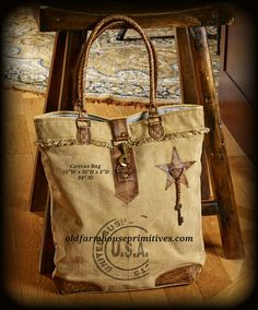 "☆☆BACK IN STOCK☆☆""Mona B"" Recycled Canvas Bag(U.S.A. Graphic)"