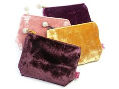 Purse - Velvet Fair Trade Jewelry, Jewelry Roll, Little Things, Indigo, Coin Purse, Rolls, Velvet, Jewellery, Purses