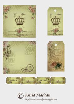 Free Vintage Style Papers, Tags and Tickets ~ Astrid's Artistic Efforts