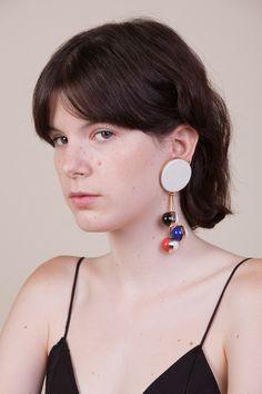Circunference charm earrings | Andresgallardo