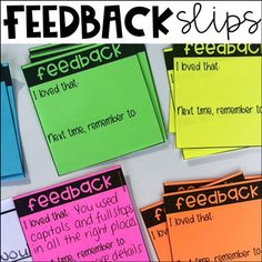 Free Feedback Slips for Student Work - Pay off credit card - How long to Pay off credit card? - Free Feedback Slips for Student Work Teaching Strategies, Teaching Writing, Student Teaching, Teaching Tips, Student Work, School Classroom, School Teacher, Classroom Ideas, Future Classroom