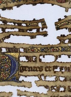 Damage caused by Iron Gall ink (Twitter / JohanOosterman: Is this a manuscript? On the ...)