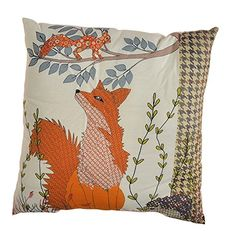 Fox Woodland Design 32cm Cushion