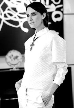 Alessandra Facchinetti, Italian Designer, Creative Director - Tod's Monsieur Madame, Italian Fashion Designers, Vogue Paris, Creative Director, Designing Women, Style Icons, Street Style, Italian Lifestyle, Artist Quotes